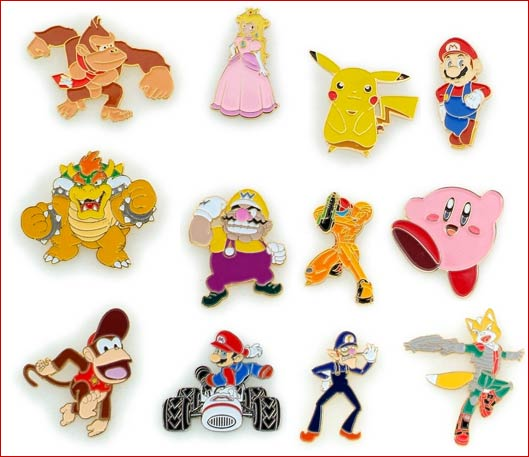 Lead Laced Nintendo Lapel Pins