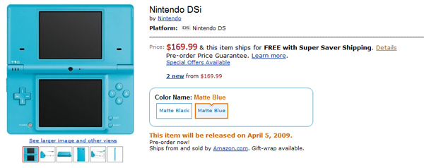 Nintendo DSI Amazon Pre-orders Start!
