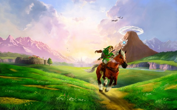 Link Riding Epona Through Hyrule Field