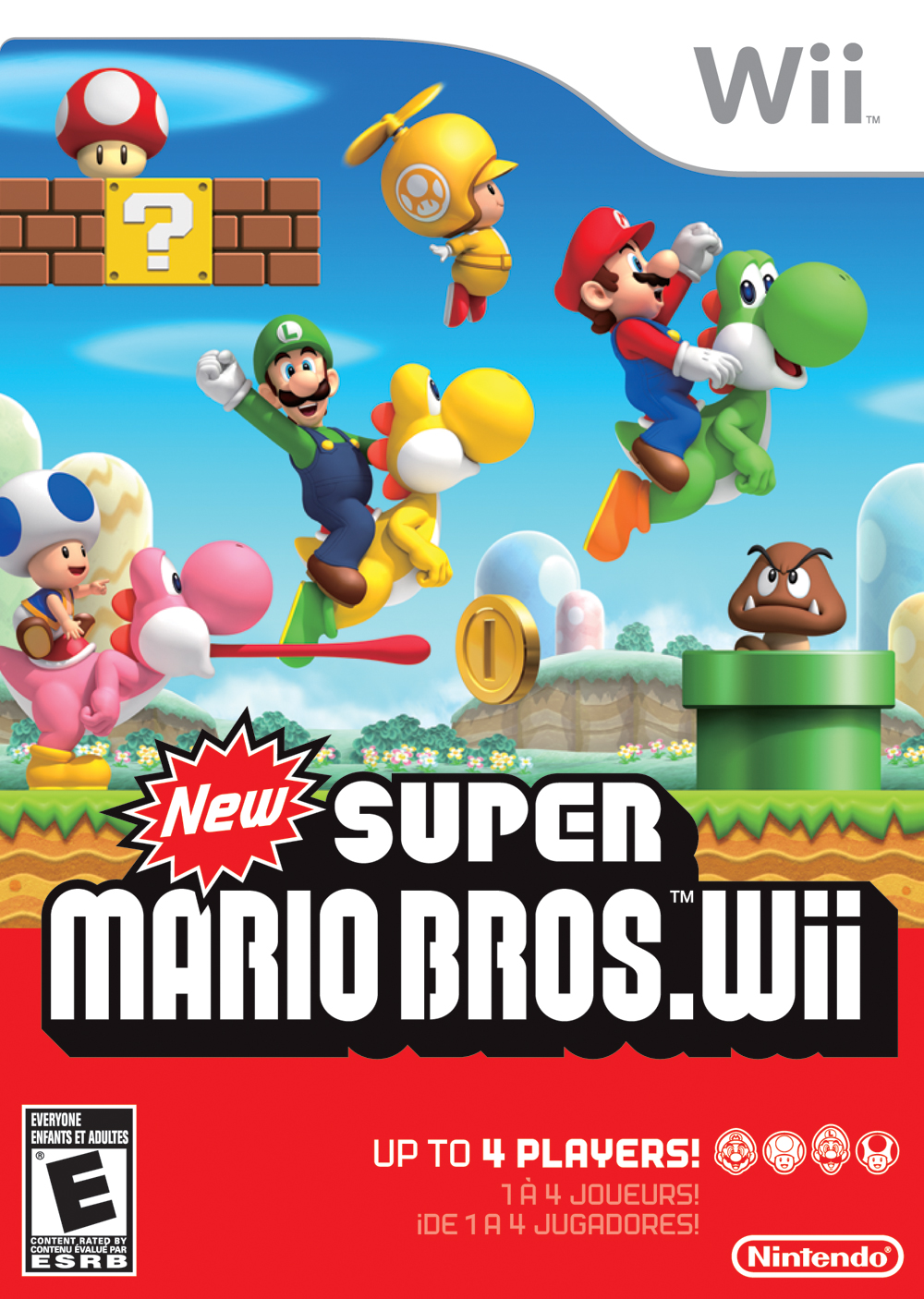 super mario brothers but for the wii now our all time favorite mario