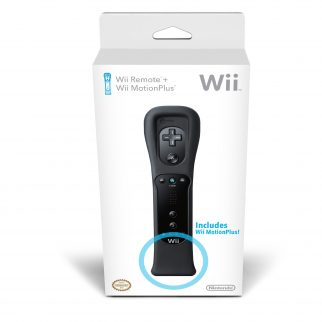 Nintendo Wii Ninja Black Wiimote with Motion Plus Add-on
