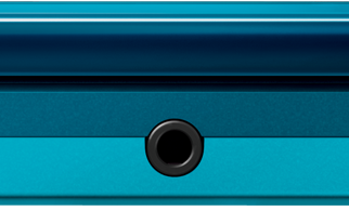 Blue Nintendo 3DS Closed Front View
