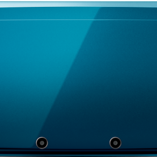 Blue Nintendo 3DS Closed Top View
