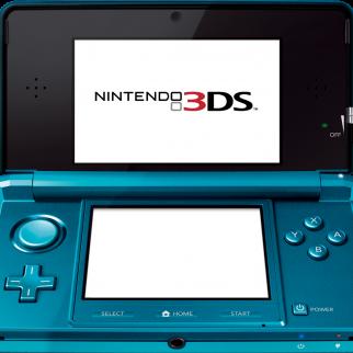 Blue Nintendo 3DS Open