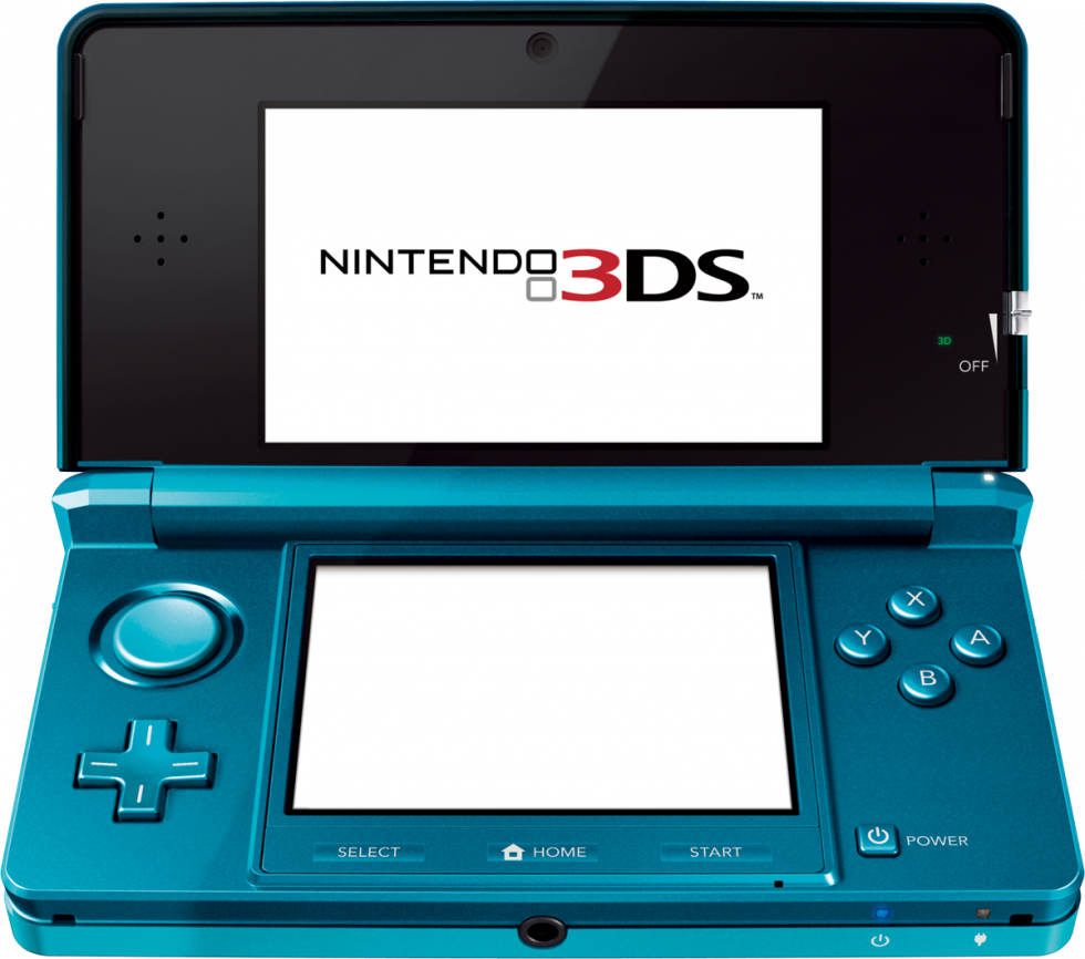 Blue Nintendo 3DS Open