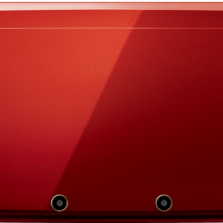 Red Nintendo 3DS Closed Top View