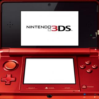 Red Nintendo 3DS Open