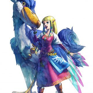 Zelda with Mysterious Riding Bird