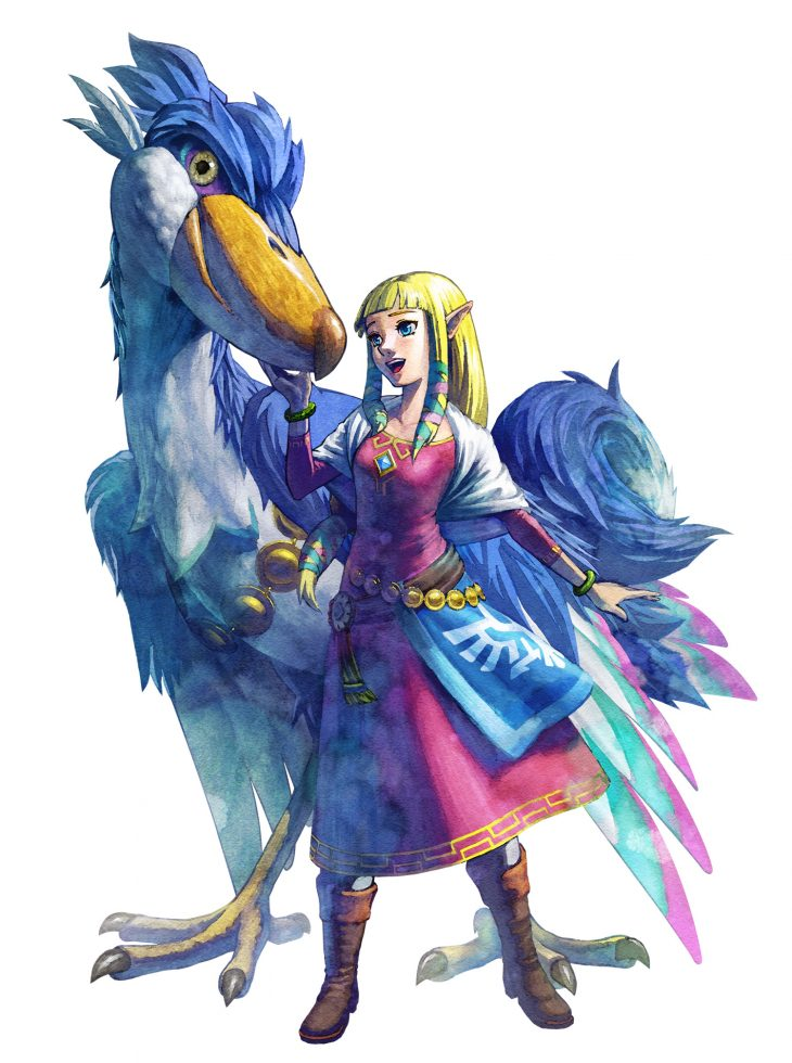 Zelda with Mysterious Riding Bird