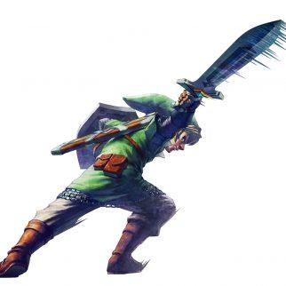 Skyward Sword Link Slashing Sword Right