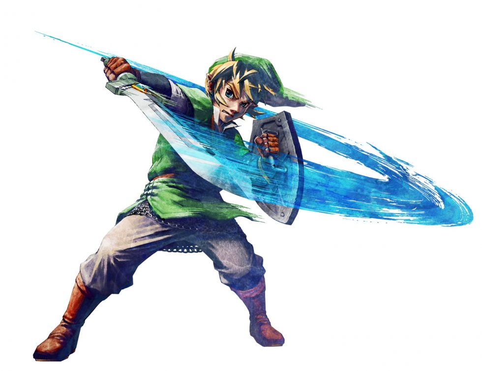 Skyward Sword Link Blocking with Sword with Fury!