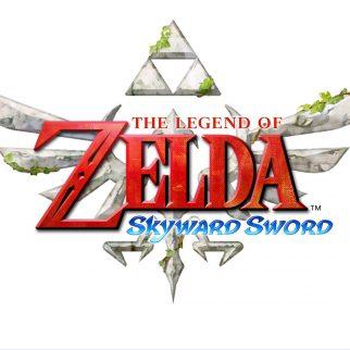 The Legend of Zelda Skyward Sword Logo on White