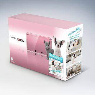 Pink Nintendo 3DS Nintendogs French Bulldog Box Art