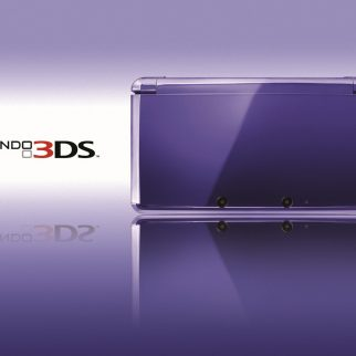 Box art of the Nintendo 3DS in Royal Purple