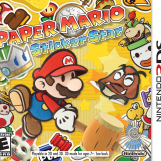 Paper Mario Sticker Star Box Art
