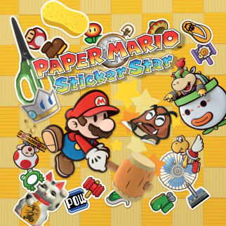 Paper Mario Sticker Star Cover Plain
