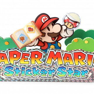 Paper Mario Sticker Star Logo with Mario