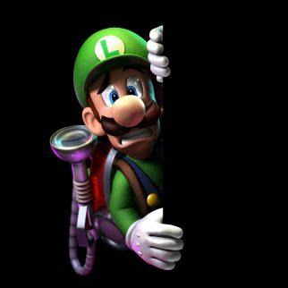 Scared Luigi Against Wall