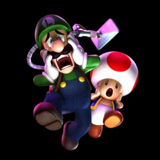 Scared Luigi and Toad