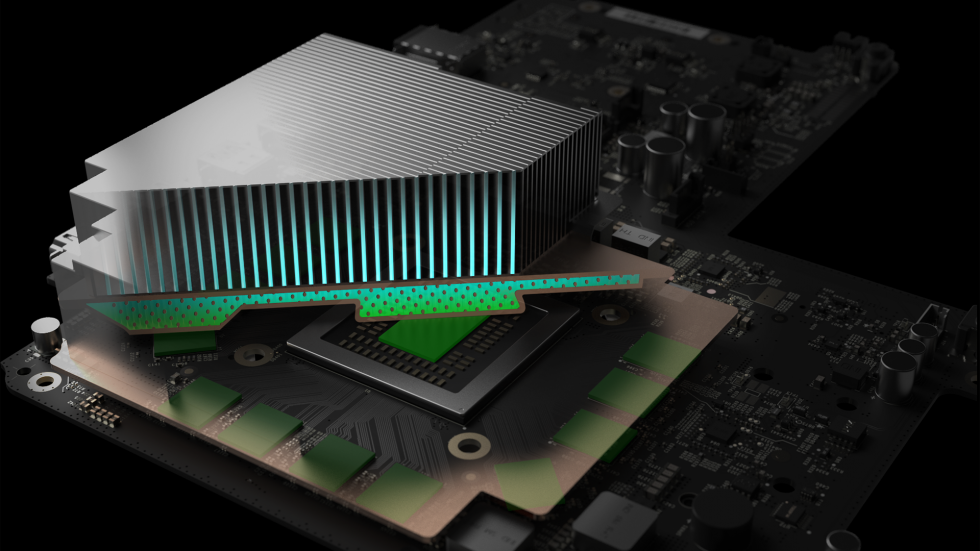 project scorpio xbox heatsink cutout render